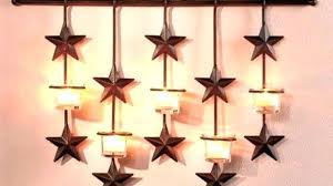 rustic star wall decor 6 piece rustic 5 point star wall decoration