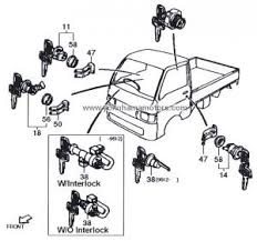 S110P_Ignition_Switch_0001 daihatsu hijet s100, s110, s120, s130 ignition switch w out interlock on daihatsu s65 wiring diagram