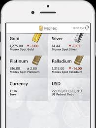Monex Live Precious Metal Prices App Gold And Silver