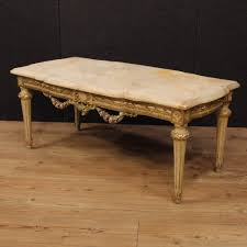 Italian Coffee Table Italian Lacquered And Gilded Coffee Table With Onyx Top 1950s For