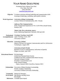 Sample One Page Resume | Sample Resume And Free Resume Templates