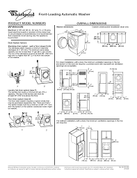 Washer And Dryer Dimensions Front Loading Front Load Washer Dryer Dimensions K Kclub 2017