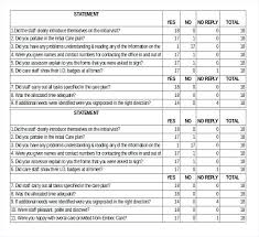 Excel Questionnaire Sample Format Template C Typename Results Simple