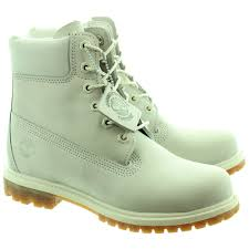 Timberland 6 Inch Light Grey 6 Inch Authentic Ladies Ankle Boots In Light Grey