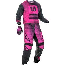 Fly Racing 2019 Youth Kinetic Noiz Jersey Pant Glove Combo