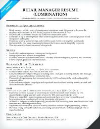 Retail Assistant Manager Resume Objective Retail Manager Resumes Sample Resume For A Retail Manager Retail 49