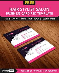 Free Hair Stylist Salon Business Card Template Psd Free Business