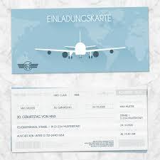 Einladungskarten zum geburtstag ▶ jetzt online gestalten. Einladungskarte Flugticket Gestalten Eigenbaudesign