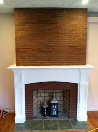 diy build fireplace mantel over brick plans free