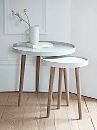 lina side tables grey within round bedside table plan 14
