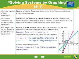 2 solving systems by graphing