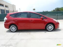 Barcelona Red Metallic 2012 Toyota Prius v Five Hybrid Exterior ...
