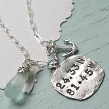 sentimental coordinates artisan handcrafted sterling silver necklace i want one places jewelry and key west