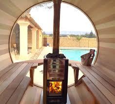 High Quality Sauna Bulle Avec Poêle à Bois