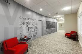 bank and office interiors. bank of north carolina headquarters branding wall lambert architecture interiors winston and office