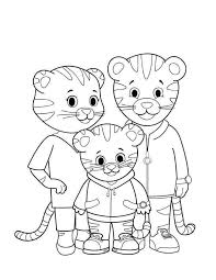 Printable Daniel Tiger Coloring Pages Line Drawing 204 Super