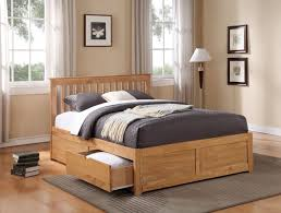 flintshire furniture pentre wooden bed with drawers