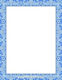 Free Page Border Templates For Microsoft Word Magnificent Word Document Border Templates Free Blue Bandana Including Printable