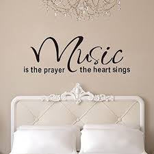 witkey music is the prayer the heart sings vinyl wall decals quotes sayings words art decor lettering wall art inspirational uplifting on wall art lettering quotes with witkey music is the prayer the heart sings vinyl wall decals quotes