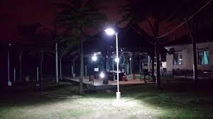 malaysia kampung with solar omega street light