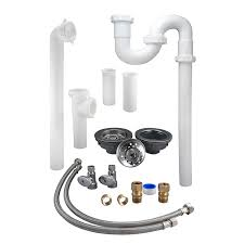 Kitchen Sink Drain Kit  With Double Plumbing Images Picture - Installing a kitchen sink