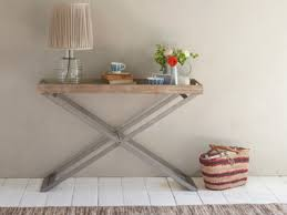 console table. Tray Away Wooden Reclaimed Console Table