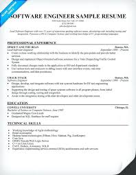 Sample Resume For Experienced Software Engineer Pdf Software