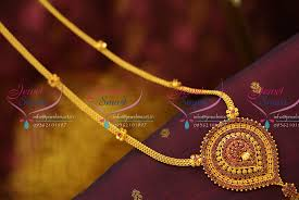 nl5948 ruby pendant flat chain haram gold look traditional collections