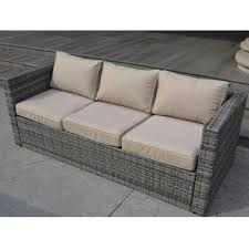 monaco large sofa set with storage table mixed grey