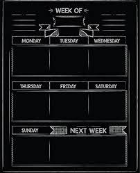 Dry Erase Chalkboard Calendar Planner – 16″ X 13″ Inches ...