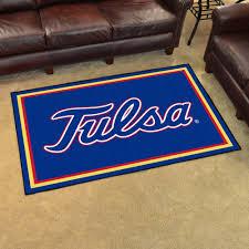 university of tulsa area rug 4 x 6 nylon