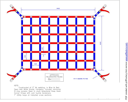 this heavy duty cargo net sports patriotic colors for pickup truck enthusiasts