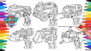 Small Picture PAW PATROL VEHICLES Coloring Pages for Kids How to Color All