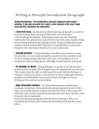 Writing Introductions Writing A Powerful Introduction Paragraph