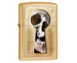 <b>Зажигалка Zippo Keyhole</b> Skull Gold Dust 28540
