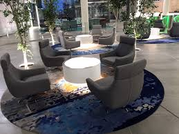 round rugs corporate reception area