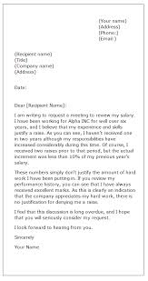 Sample Request Letter Asking For A Raise