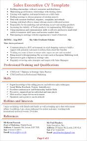pro cv template sales executive cv template tips and download cv plaza
