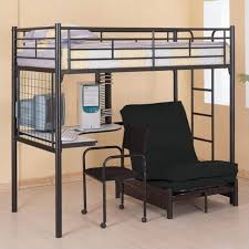 bunk bed office. Coaster Max Twin Over Futon Metal Bunk Bed With Desk In Black Finish Office T