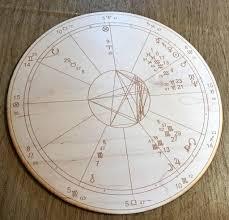 Zodiac Natal Chart Custom Wood Engraved Astrology Chart Natal Chart