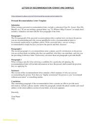 Letter Of Recommendation Resume Template Letter Of
