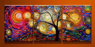textured modern abstract art oil painting framed gop44