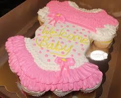 Girl Baby Shower Pull Apart Cake  Umbrella Cupcake Pullapart For Pull Apart Baby Shower Cupcakes