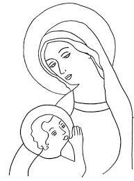Madonna Con Bambino Maria Di Nazareth Disegni Da Colorare Disegni