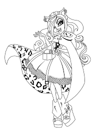 Small Picture Clawdeen wolf Monster high coloring pages for kids printable free