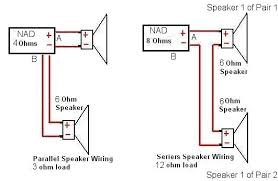 wiring volume control for speakers wiring image hi i have an older nad 7225pe a 4 ohm or 8 ohm setting on