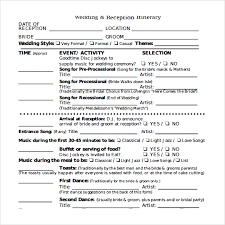wedding itinerary 8 download documents in pdf, psd, excel Wedding Itinerary Samples sample wedding reception itinerary wedding itinerary sample free