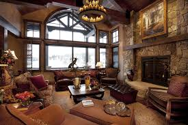 Rustic Interior Design Ideas rustic interior design ideas with elegant windows sets and traditional ceiling lamp plans