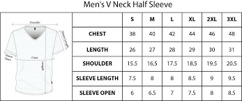 Sizechart For Qikink T Shirts And Other Apparel Products