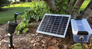 converting electric outdoor light to solar
